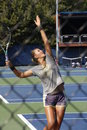 Victoria azarenka professional belarussian tennis player during her practice session at the us open tennis tournament image taken Stock Photo