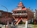 Victoria bc chinese public school circa april building in chinatown is a landmark in Royalty Free Stock Photography