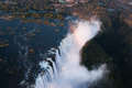 Victoria Falls Aerial Royalty Free Stock Photos