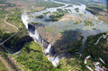 Victoria falls the from air in zimbabwe Stock Image