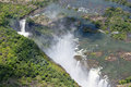 Victoria falls the from air in zimbabwe Royalty Free Stock Photo