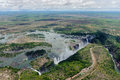 Victoria falls the from air in zimbabwe Royalty Free Stock Image