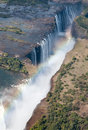 Victoria falls or mosi oa tunya is a waterfall in southern africa on the zambezi river at the border of zambia and zimbabwe Stock Photos