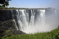 Victoria falls seen from the zimbabwe side Stock Images