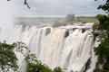 Victoria falls view at from zambia Stock Image