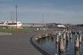 Victoria Harbor and promenade Royalty Free Stock Photo