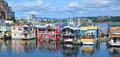 Victoria Inner Harbour, Fisherman Wharf Royalty Free Stock Photo