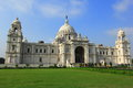 Victoria memorial calcutta was plan and design by sir william emerson using european style and the indo islamic style built with Stock Photography