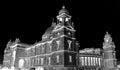 Victoria memorial hall invert of black and whight on kolkata india Royalty Free Stock Photo