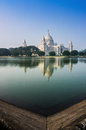 Victoria Memorial, Kolkata , India - reflection on water. Stock Photos