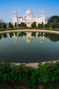 Victoria Memorial, Kolkata , India - reflection on water. Stock Image