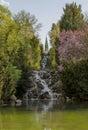 Victoria park waterfall artifcial in the kreuzberg berlin Stock Images