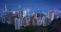 Victoria Peak Hong Kong, Modern office buildings from the Peak Royalty Free Stock Photo