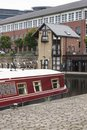 Victoria Quays also known as Sheffield Canal Basin in Sheffield, South Yorkshire, United Kingdom - 13th September 2013 Royalty Free Stock Photo