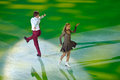 Victoria sinitsina and ruslan zhiganshin moscow russia february in action during gala concert of olympic champions in figure Royalty Free Stock Image