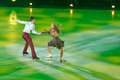 Victoria sinitsina and ruslan zhiganshin moscow russia february in action during gala concert of olympic champions in figure Royalty Free Stock Photo