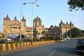 The victoria terminus bombay chhatrapati shivaji cst marathi formerly vt is a unesco world heritage site Stock Photography