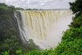 Victoria waterfall zimbabwe view of the in the zambezi river southern africa Royalty Free Stock Photo