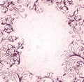 Victorian background vector pink floral Stock Photos