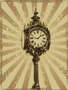 Victorian Clock Grunge Design Royalty Free Stock Image