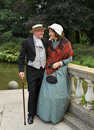 Victorian couple Royalty Free Stock Photos