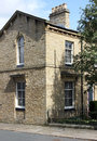 Victorian end terrace house saltaire architecture at near bradford west yorkshire Royalty Free Stock Photography