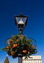 Victorian Holiday Street Decorations Royalty Free Stock Photo