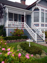 Victorian house entrance and garden Stock Images