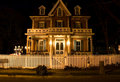 Victorian house at night Royalty Free Stock Photo