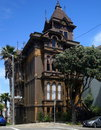 Victorian house a style on alamo square in san francisco california Stock Image