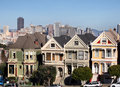 Victorian houses in San Francisco Royalty Free Stock Photos
