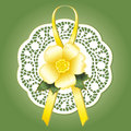Victorian Lace, Wild Yellow Rose  Stock Image