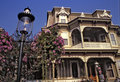 Victorian mansion and gaslamp Royalty Free Stock Photos