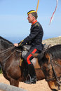 Victorian mounted trooper display re enactor fort rinella malta Royalty Free Stock Photos