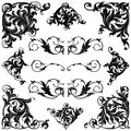 Victorian ornament frames and borders Royalty Free Stock Photo
