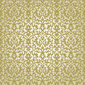 Victorian ornament seamless pattern gold pattern Royalty Free Stock Images
