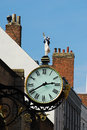 Victorian public clock on building in historic york Stock Photo