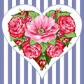 Victorian roses heart Stock Photos