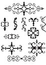 Victorian scroll elements Stock Photos