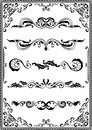 Victorian scrolls ornamente on white Royalty Free Stock Photo