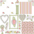 Victorian Shabby Chic Clipart Royalty Free Stock Images
