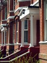 Victorian terraced houses Stock Image