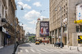 Victory avenue in bucharest romania june calea victoriei is a major central and is the boulevard Stock Image