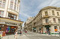 Victory avenue in bucharest romania may on may romania calea victoriei is a major central Royalty Free Stock Images