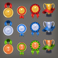 Victory awards trophey Royalty Free Stock Photo