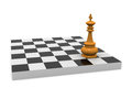 Victory d illustration of chess board with king Stock Image