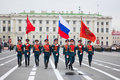 Victory Day parade rehearsal Royalty Free Stock Photography
