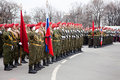 Victory Day parade rehearsal Royalty Free Stock Photo
