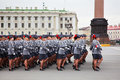 Victory Day parade rehearsal Stock Photos