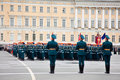 Victory Day parade rehearsal Royalty Free Stock Images